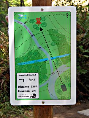 Azalea Park Disc Golf Course Hole 1