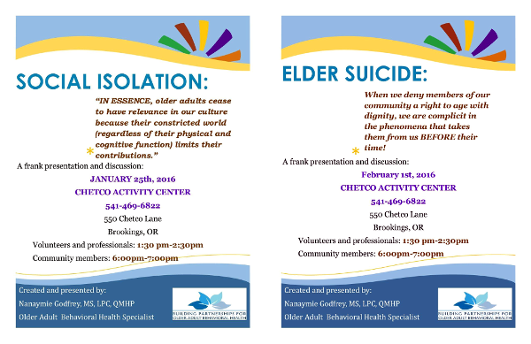 Elder Mental Health Flyers