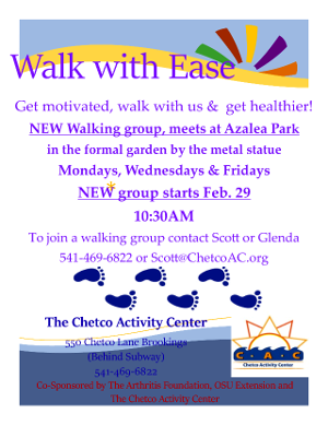 Walk With Ease Flyer