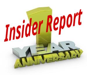 Insider Report 1 Year Annaversary